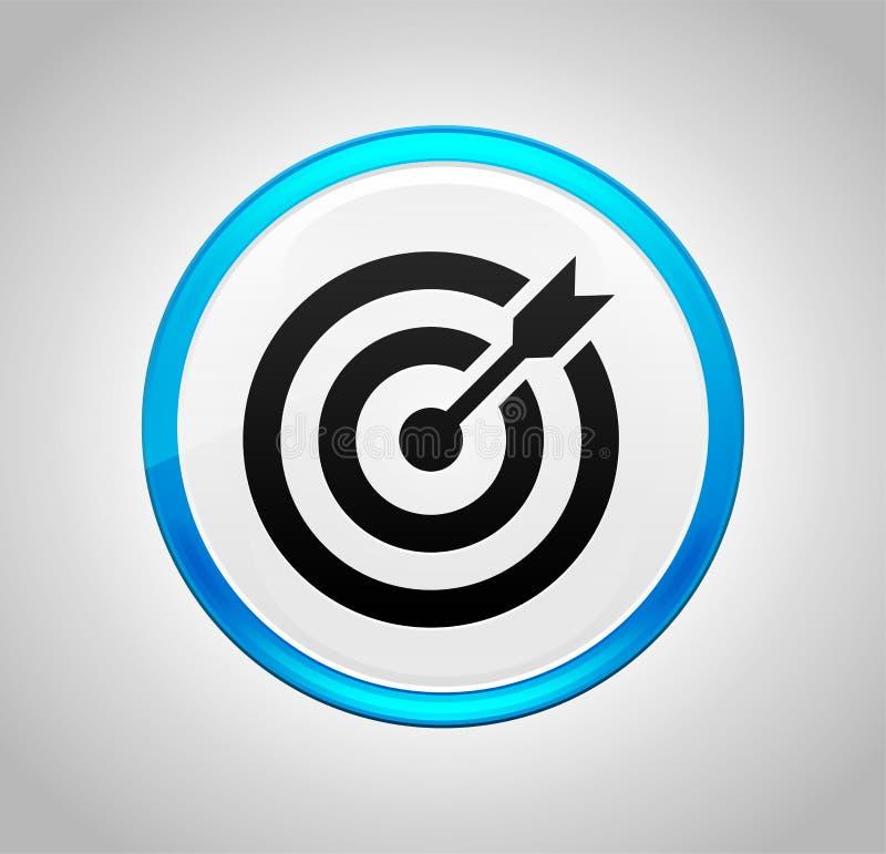 目标围绕蓝色按钮的箭头象 皇族释放例证