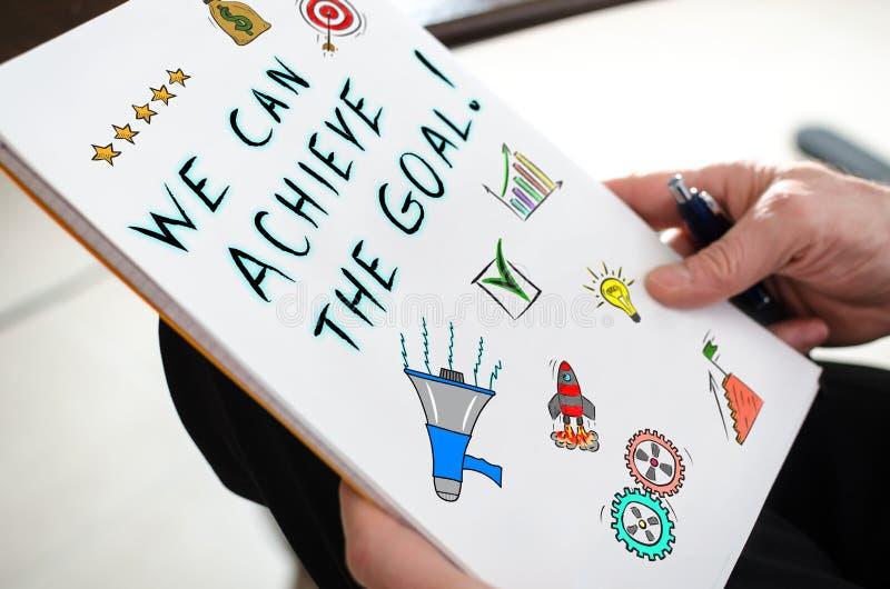 目标在纸的成就概念 免版税库存图片