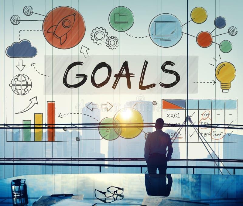 目标数据使命目标志向概念 库存图片
