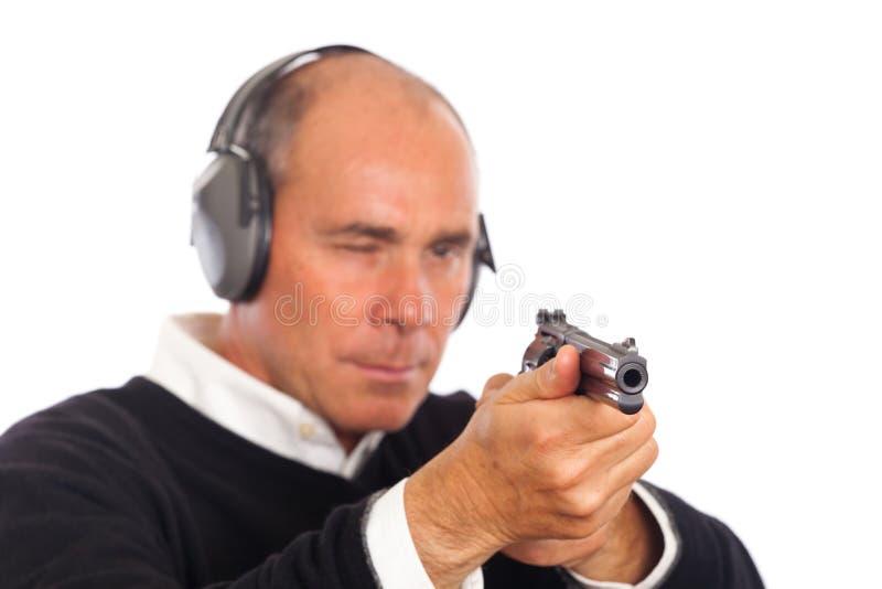 目标枪人 免版税库存照片