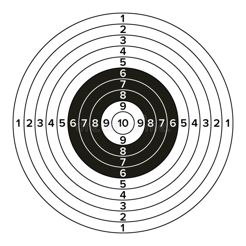 目标枪传染媒介 经典纸射击目标例证 对体育,猎人,军事,警察,例证 向量例证