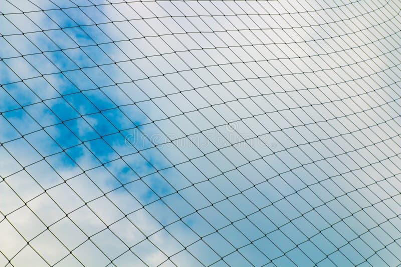 目标网背景反对蓝天的 库存照片