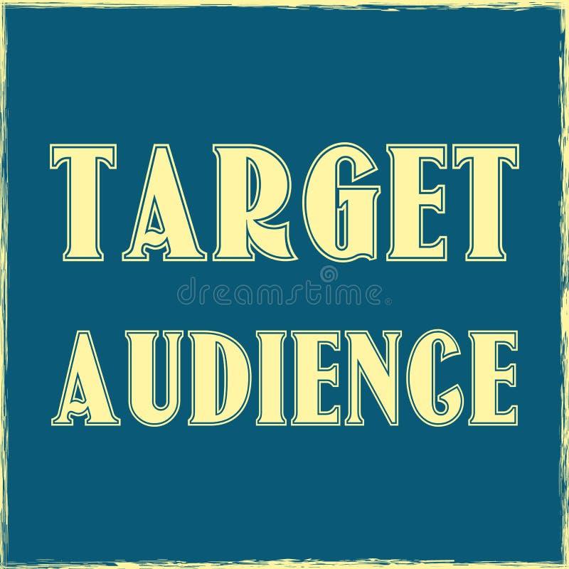 目标观众企业概念传染媒介T恤杉设计 皇族释放例证