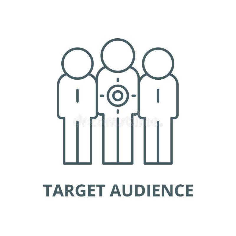 目标观众传染媒介线象,线性概念,概述标志,标志 库存例证