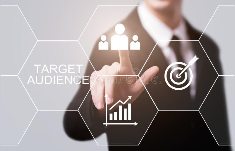 目标观众营销互联网企业技术概念 免版税库存图片
