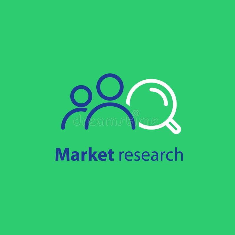 目标观众,市场研究,公共关系概念,线象 库存例证