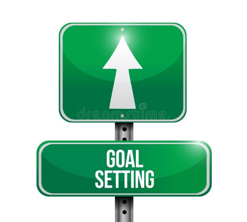目标设置路牌例证设计 向量例证