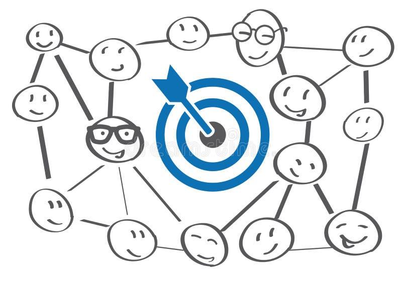 目标设置 聪明的目标 企业目标概念 库存例证