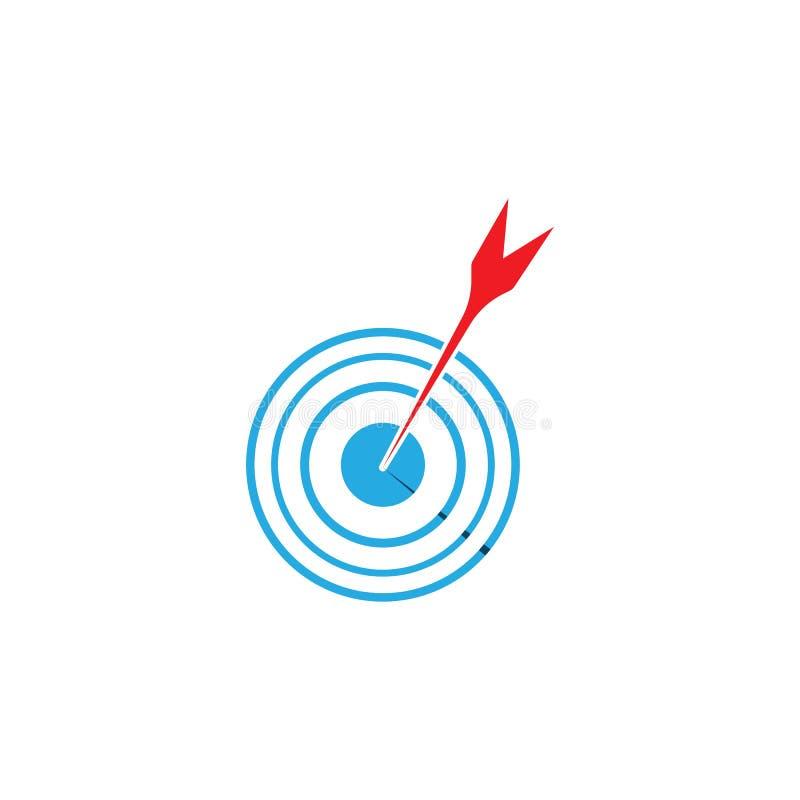 目标象和标志传染媒介ilustration模板 向量例证