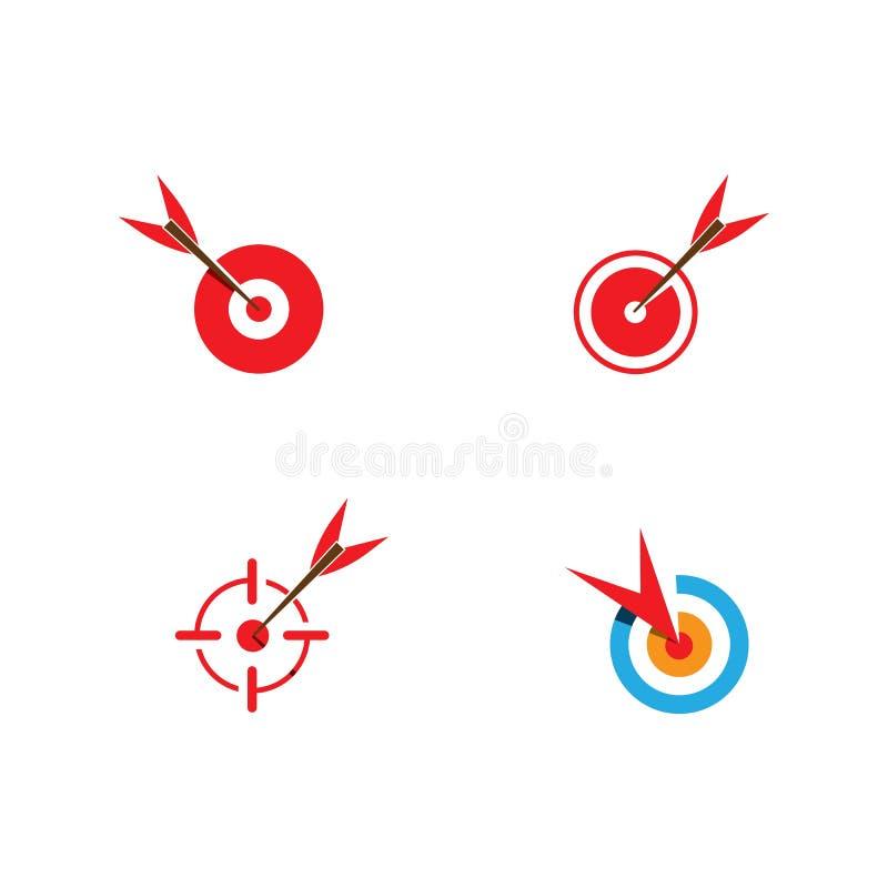 目标象和标志传染媒介ilustration模板 皇族释放例证