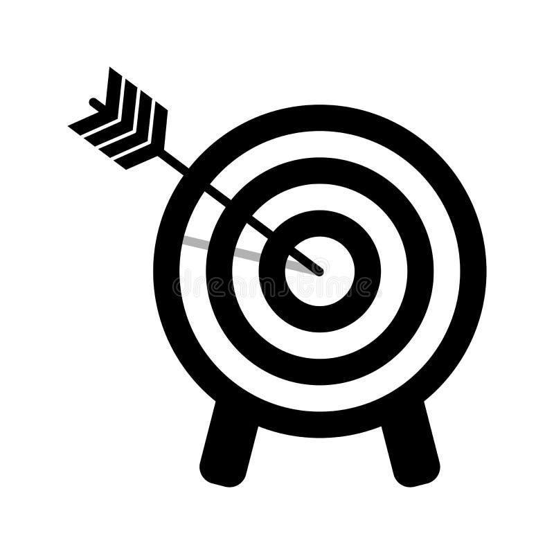 目标象 击中目标的箭头 r 库存例证