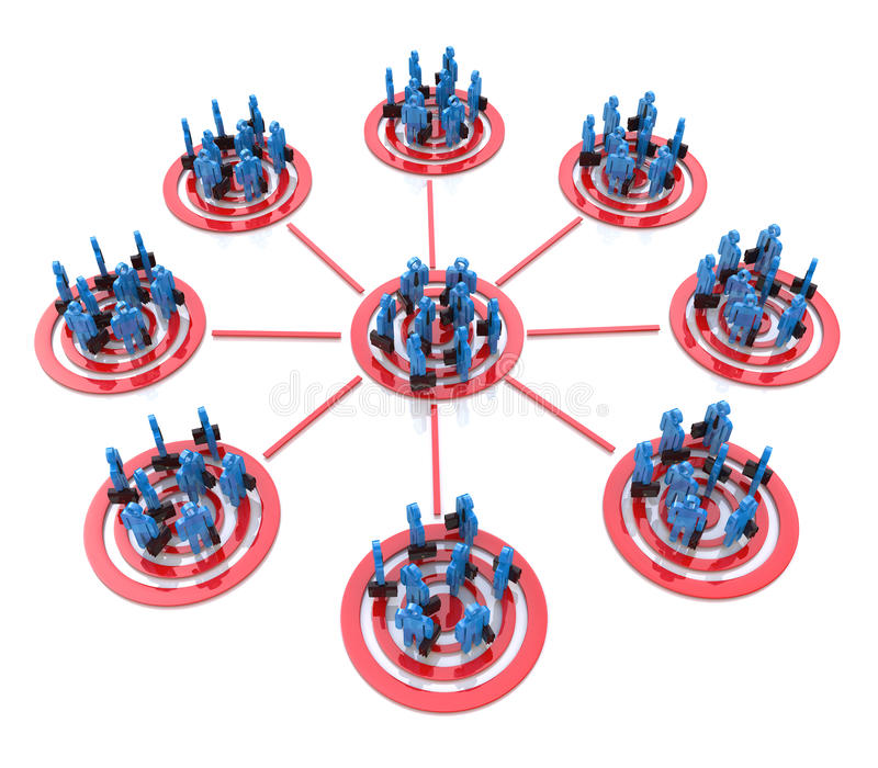 目标销售-小组流程图  皇族释放例证