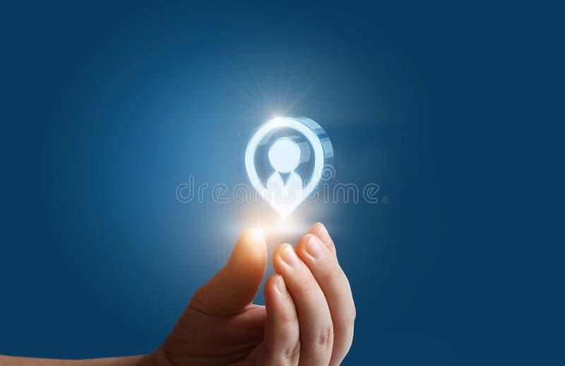 目标顾客和人力资源 免版税库存照片