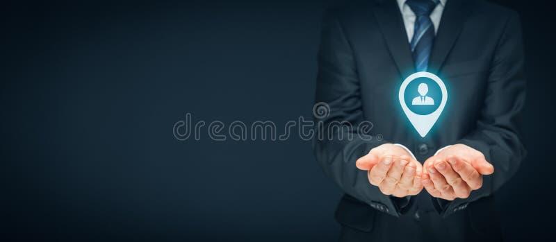 目标顾客和HR 图库摄影