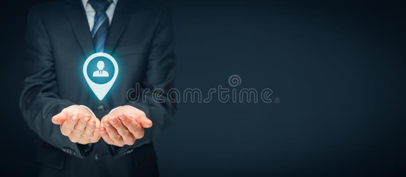 目标顾客和HR 免版税库存照片