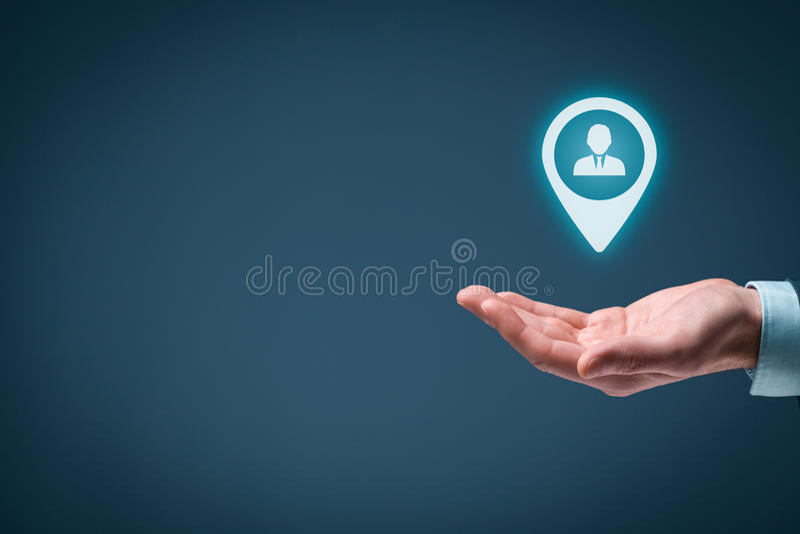 目标顾客 免版税库存图片