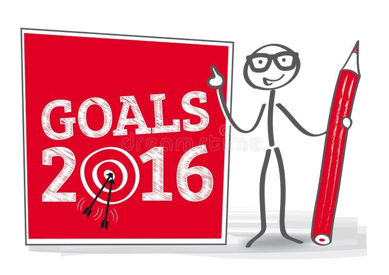 目标2016年例证 向量例证