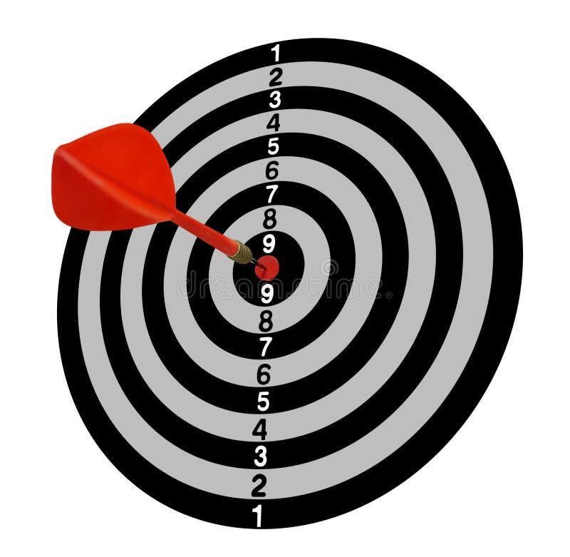 目标 目标 全1 红色箭头在中心 灰色口气 皇族释放例证