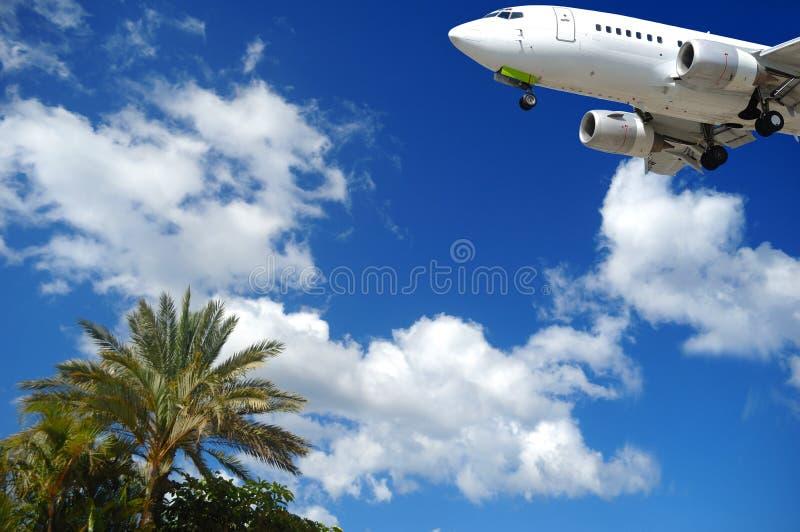 目的地异乎寻常的飞机 免版税图库摄影