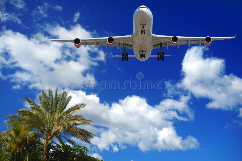 目的地异乎寻常的飞机 免版税库存照片