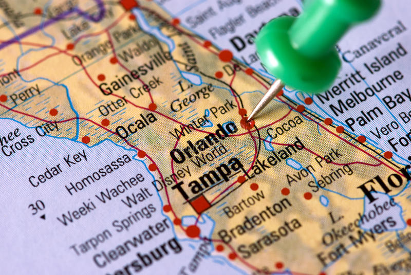 目的地: 奥兰多-佛罗里达 库存图片