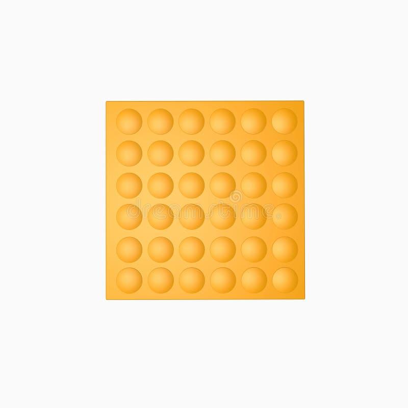 盲人识字系统块黄色路白色背景 免版税库存图片
