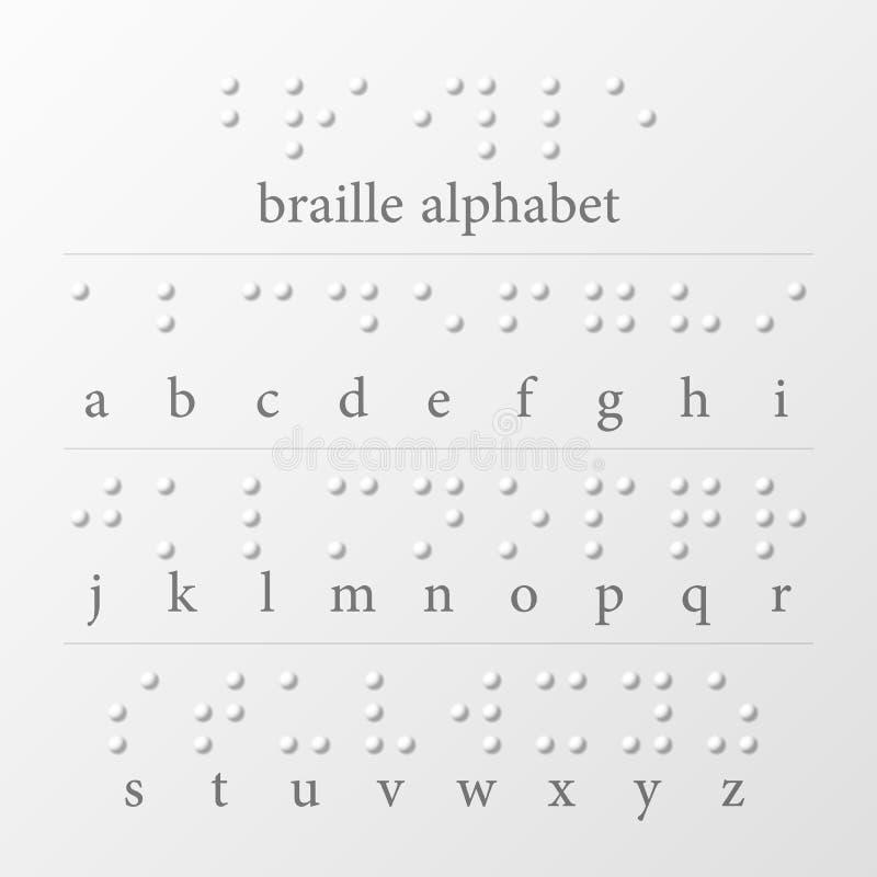 盲人识字系统加点字母表 库存例证