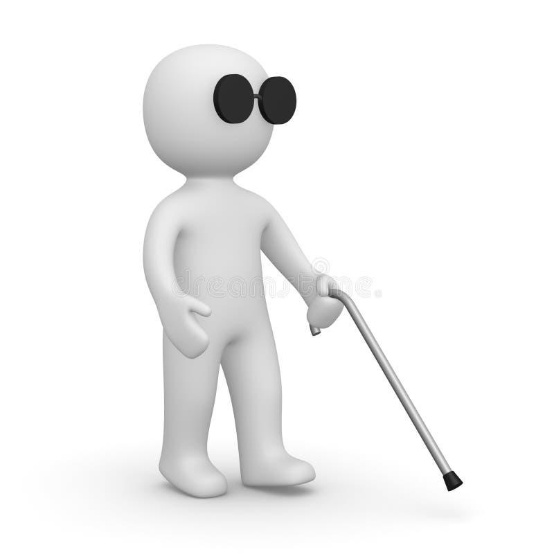 盲人 库存例证