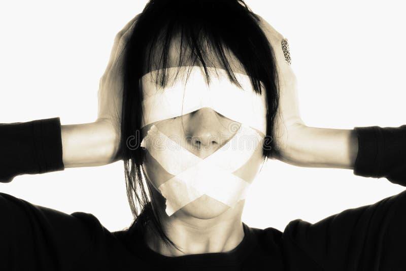 盲目的审查概念媒体 免版税图库摄影