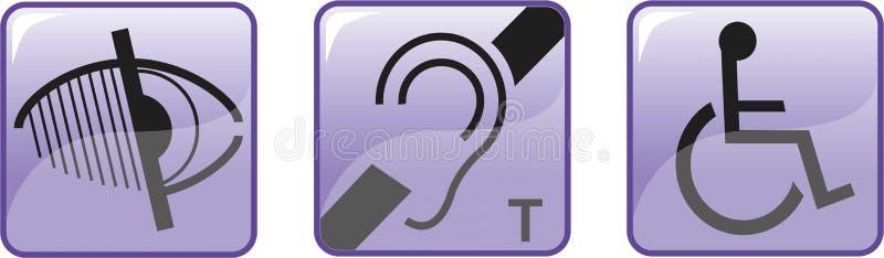 盲目的聋残疾符号 皇族释放例证