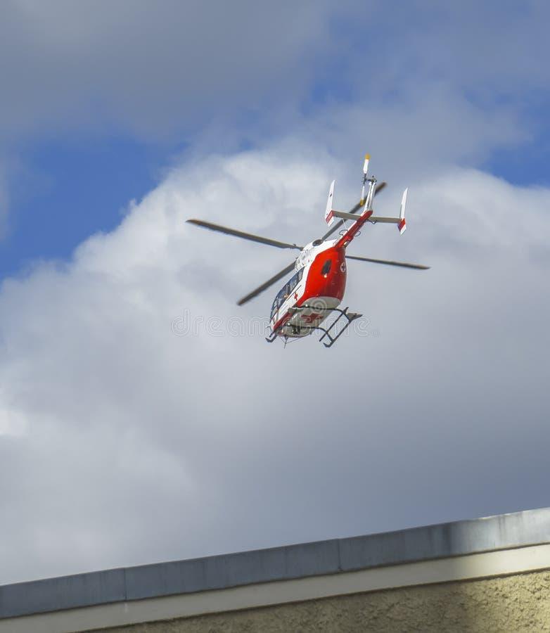 直升机医疗救护车 库存照片