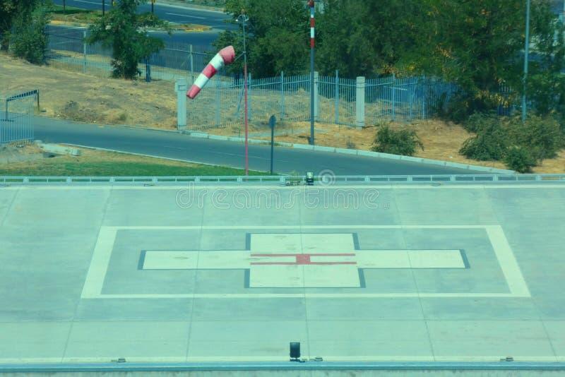 直升机场 图库摄影
