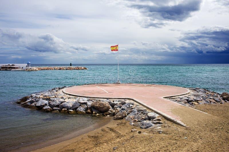 直升机场marbella 库存图片