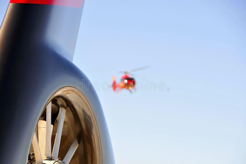 直升机尾标 免版税库存照片