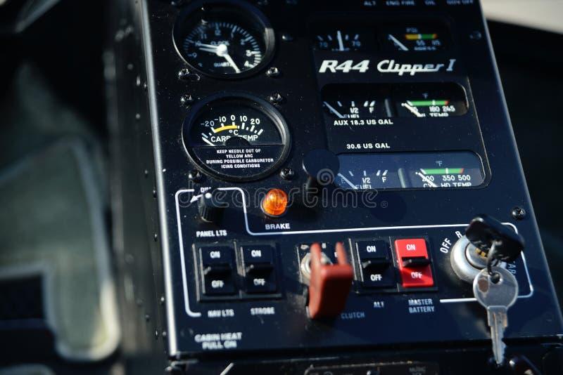 直升机控制板 库存照片