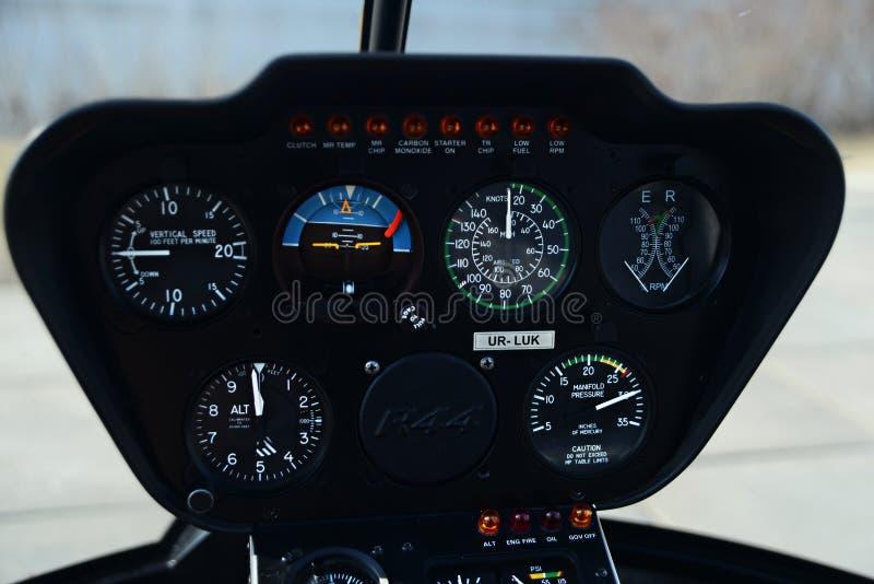 直升机控制板 图库摄影