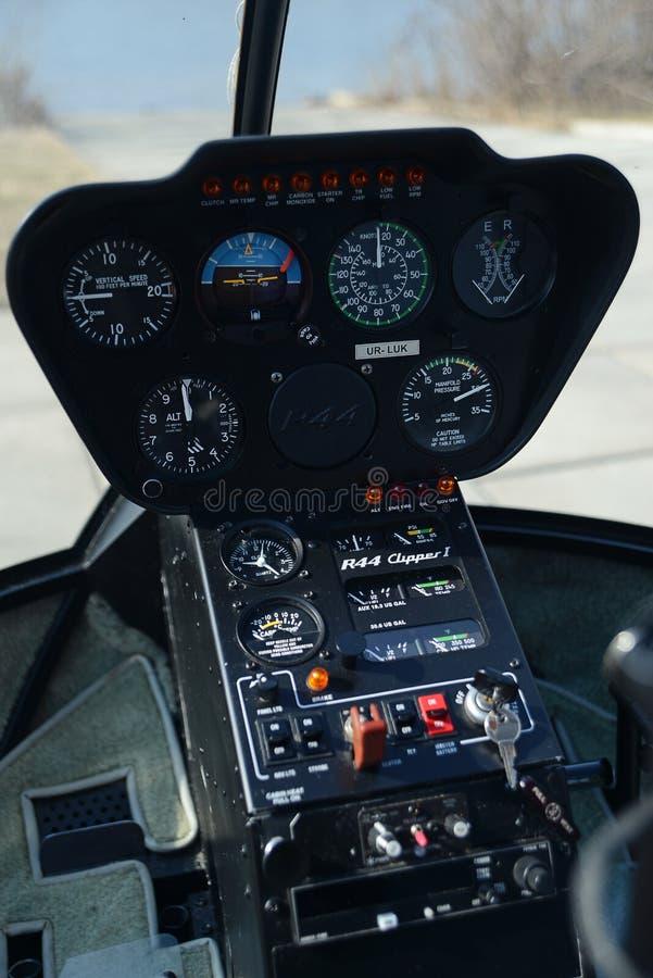 直升机控制板 库存图片