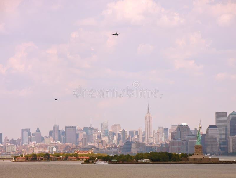 直升机新的地平线约克 库存图片