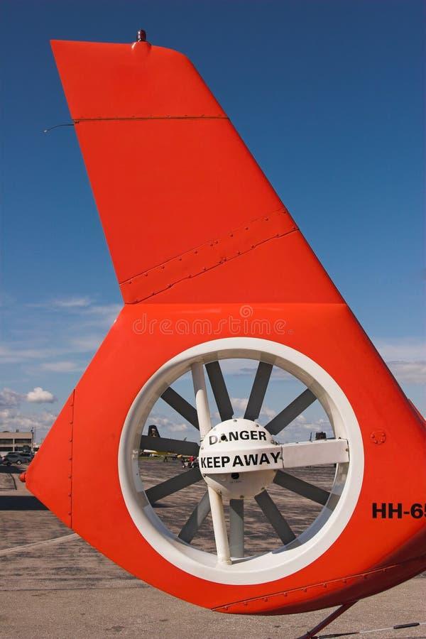 直升机电动子尾标 免版税图库摄影