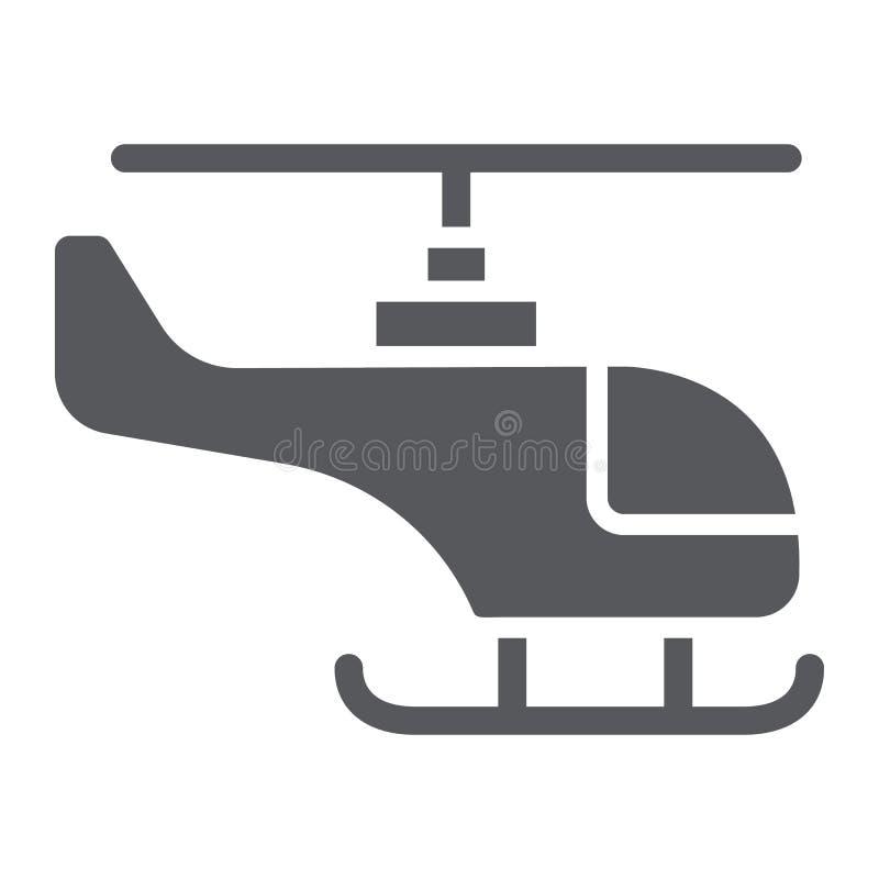 直升机纵的沟纹象、运输和旅行,砍刀标志,向量图形,在白色背景的一个坚实样式 向量例证