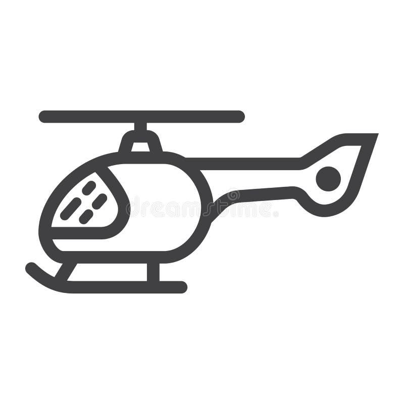 直升机线象、运输和航空器 库存例证