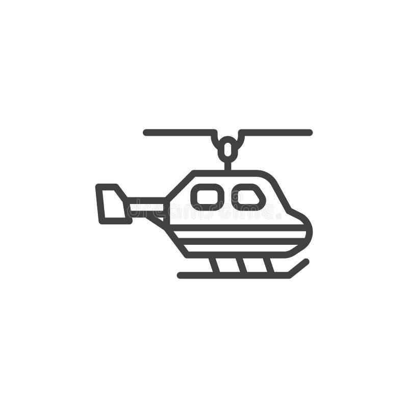 直升机线象 库存例证