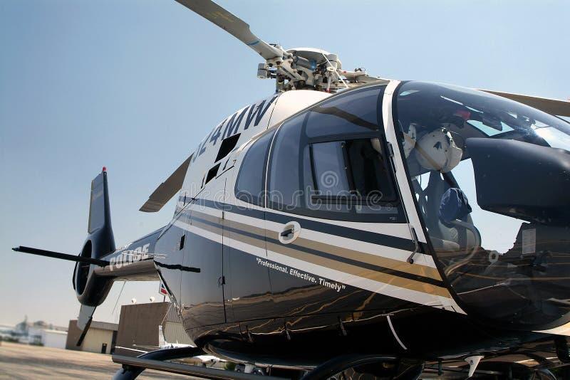 直升机警察 免版税库存照片