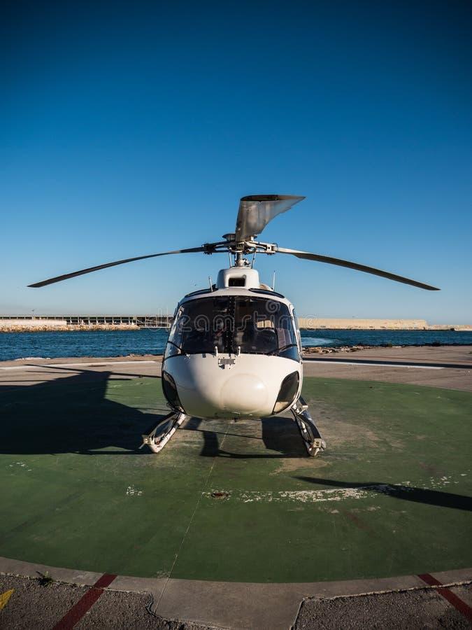 直升机额骨 图库摄影