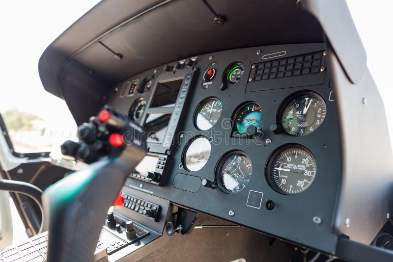 直升机驾驶舱 免版税图库摄影