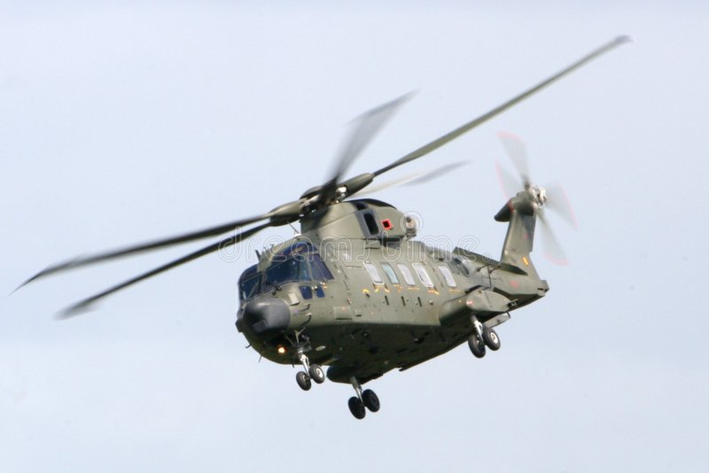 直升机默林 免版税库存照片