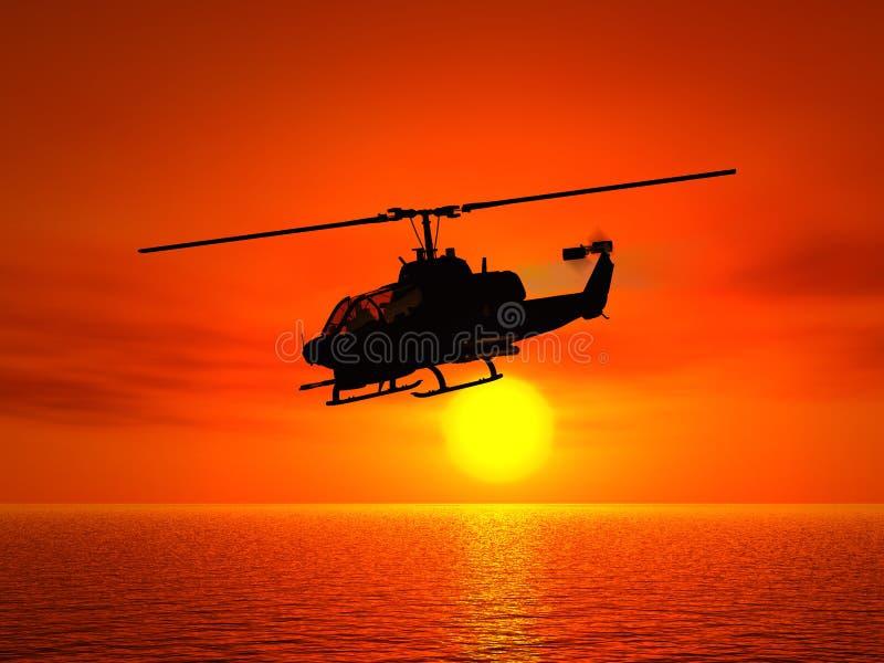 直升机 库存例证