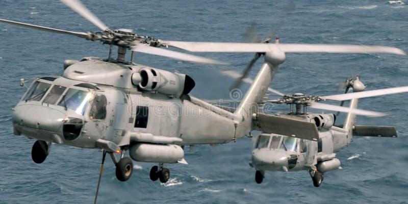 直升机seahawk 库存图片