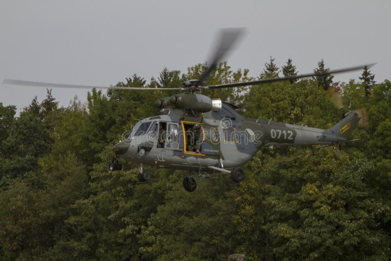 直升机W-3A索科尔 免版税库存图片