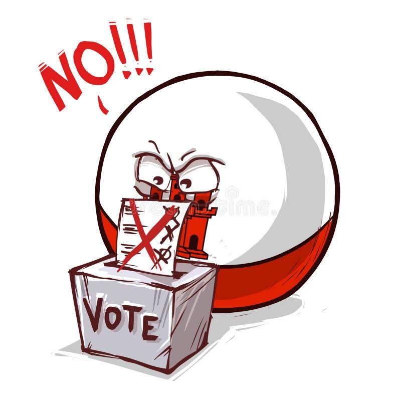 直布罗陀投反对票的投赞成票 库存例证